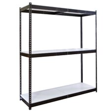 Rivetwell Double Boltless 3 Shelf Shelving Unit Starter