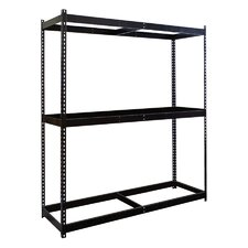 Rivetwell, Double Rivet Boltless Knock-Down 3 Shelf Shelving Unit