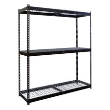 "Rivetwell Double Boltless 84"" H 2 Shelf Shelving Unit Starter"