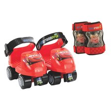 Disney Cars Junior Rollerskate with Knee Pads