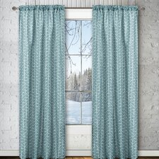 Chevron Rod Pocket Window Curtain Panel (Set of 2)