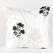 <strong>LJ Home</strong> White euro sham with floral and scroll accents