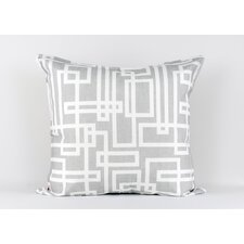Ivory and grey geometric printed euro sham
