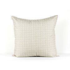 Ivory and beige geometric  euro sham