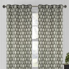 Medallion Hourglass Eyelet Curtain Panel (Set of 2)