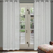 Frost Large Floral Burnouts Eyelet Curtain Panel (Set of 2)