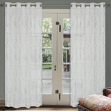 Silverado Eyelet Sheer Curtain Panel (Set of 2)