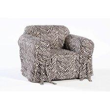 Zebra Print Armchair Slipcover