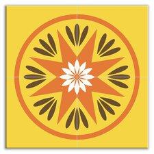 """Organic Origins 12"""" x 12"""" Satin Decorative Tile Quad in Country Harvest"""