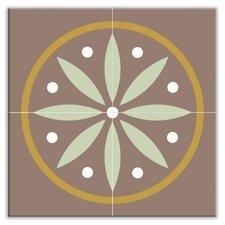 "Organic Origins 12"" x 12"" Satin Decorative Tile Quad in Long Leaf"