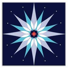 "Earth Quads 12"" x 12"" Satin Decorative Tile Quad in Mod Dew Blue"