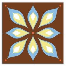"Earth Quads 12"" x 12"" Satin Decorative Tile Quad in Mod Flair Brown"