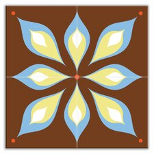 "Earth Quads 8-1/2"" x 8-1/2"" Glossy Decorative Tile Quad in Mod Flair Brown"