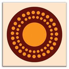 """Folksy Love 4-1/4"""" x 4-1/4"""" Glossy Decorative Tile in Sunshine Orange"""