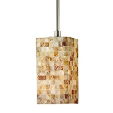 Visaya Shell 1 Light Square Pendant