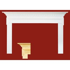 Mt. Vernon MDF Primed Fireplace Mantel Surround