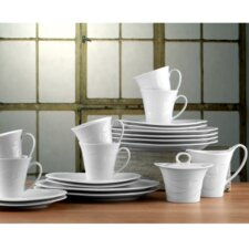 Allegro 20 Piece Coffee Set in White