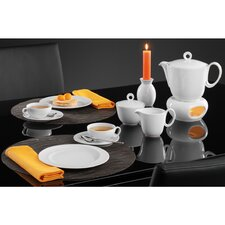 Paso 18 Piece Coffee Set in White with 23cm Breakfast Plate