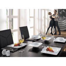 Paso 12 Piece Dinnerware Set in White with 28cm Dinner Plate