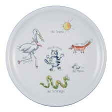 Compact Animal World 25cm Dining Plate with Banner