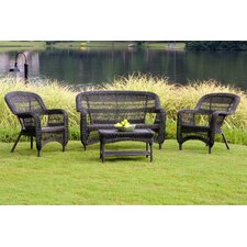 <strong>Tortuga Outdoor</strong> Portside 4 Piece Lounge Seating Group with Cushions