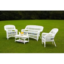 Portside 4 Piece Lounge Seating Group with Cushions