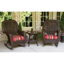 Lexington 3 Piece Rocker Seating Group with Cushions