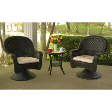 <strong>Tortuga Outdoor</strong> After Dinner 3 Piece Bistro Set with Cushions