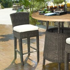 "<strong>Padmas Plantation</strong> Outdoor Bay Harbor 28.25"" Barstool with Cushion"