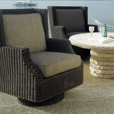 Outdoor Terrace Swivel Rocker with Cushions