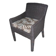 Outdoor Bay Harbor Dining Arm Chair With Cushion