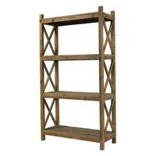 "Salvaged Cross Rack 79"" Bookcase"
