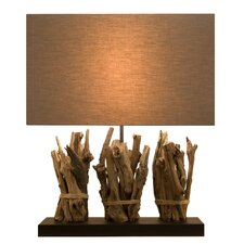 "Natura Branches Triple 19.5"" H Table Lamp with Drum Shade"