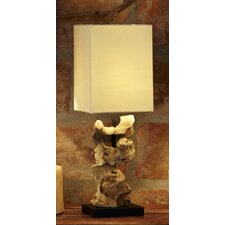 "Natura Indigenous 17.16"" H Table Lamp with Square Shade"