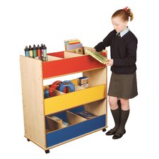 Primary Coloured Mobile Triple Decker Storage Unit