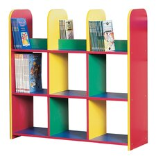 Primary Coloured Large Book Box Unit