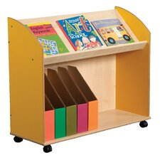 Primary Coloured Single Shelf Bookcase and Display Unit