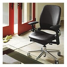 <strong>Steelcase</strong> Leap Mid-Back Leather Office Chair