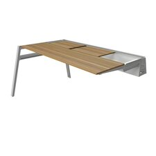 "Bivi 62"" W x 60"" D Table for Two with Back Pockets"
