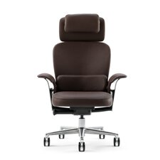 <strong>Steelcase</strong> Leap 464 Series WorkLounge High-Back Leather Office Chair