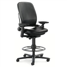 <strong>Steelcase</strong> Leap 462 Series Leather Height Adjustable Stool