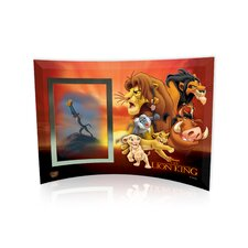 Lion King (Group Collage) Curved Glass Print with Photo Frame