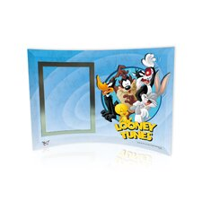 Looney Tunes (Group) Curved Glass Print with Photo Frame
