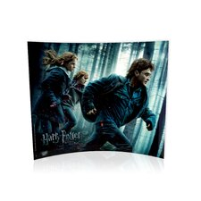 <strong>Trend Setters</strong> Harry Potter and the Deathly Hallows (Running in The Woods) Curved Glass Print