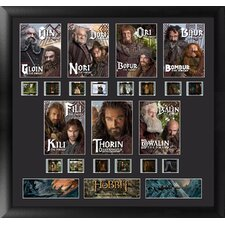 The Hobbit Dwarves Montage FilmCell Presentation Framed Memorabilia (Set of 4)