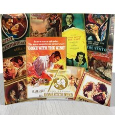 Gone with The Wind 75th Anniversary (Poster Collage) StarFire Prints Curved Glass Print