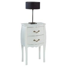 Murano 2 Drawer Bedside Table
