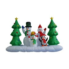8 ft. Long Inflatable Snowmen Christmas Trees Decoration