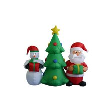 5 ft. Christmas Tree Santa Snowman Decoration