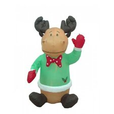 4' Christmas Inflatable Cute Sitting Reindeer